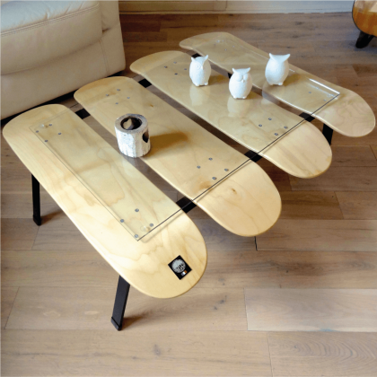 Table basse skateboard