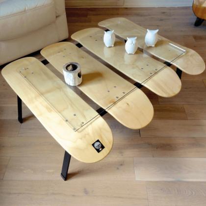 Table basse skateboard