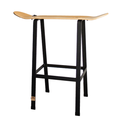 Skateboard bar stool
