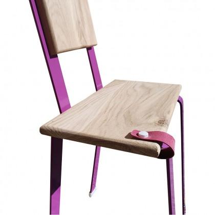 chaise audacieuse papajosette violette