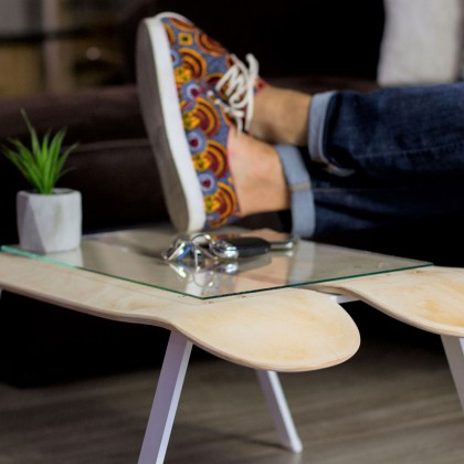 Table basse skatetboard